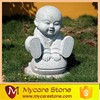 Cute hand-carved Temple Monk Stone sculpture