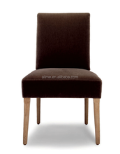 Alime hot sale custom modern solid wooden dark brown fabric dining chair for restaurant furniture in hotel furniture ACW628