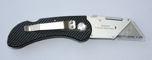 Folding pocket safety cutter folding knife aluminium alloy box cutter mini box cutter with utility blades hook blades