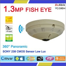 360 camera 360 degree Fisheye Panoramic 1.3 Megapixels IP Camera with p2p function for sale