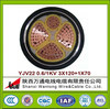 XLPE Insulated Aluminum Power Cable YJLV22 2*120MM2 electrical power cable for construction