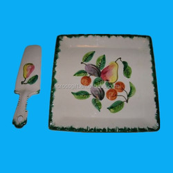 decal printing decorative pie ceramic fruit plates