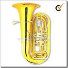 4 válvulas Bb laca chave de ouro tuba rotativo (TU9915)