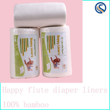 happy flute Diaper Bamboo Liner, Diaper Liners,Flushable Diaper Liner