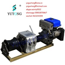 3 Ton variable speed winch with gasoline engine