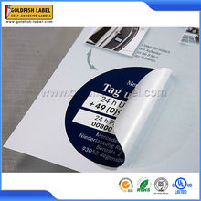 Custom Design Permanent Waterproof Adhesive Labels