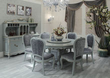 Elegant French Style Classic Dining Room Set Wood Dining Room Furniture Dining Table Sets