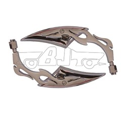 BJ-RM-009 Chrome Plated Flame Blade Triangle motorcycle review mirrors For chopper Yamaha