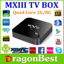 MXIII Amlogic Quad Core 2.0GHz MINI PC 4K Video MXIII S802 Android 4.4 Miracast DLAN 2G 8G TV Box full hd media player