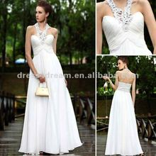 Latest designs halter and sweetness neckline prom dress for ladies