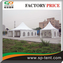 5x5m and 10x10m Claaic white wedding pagoda tents with church windows and linings
