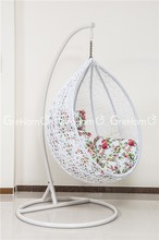 white hanging garden swing chairs for bedroom