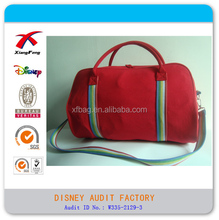 Red Cotton Canvas Large Duffel Bag