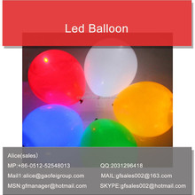 Cheap high quality party latex custom logo printed led balloons with CE ROHS