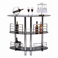 2015 modern design glass table, table top salad bar