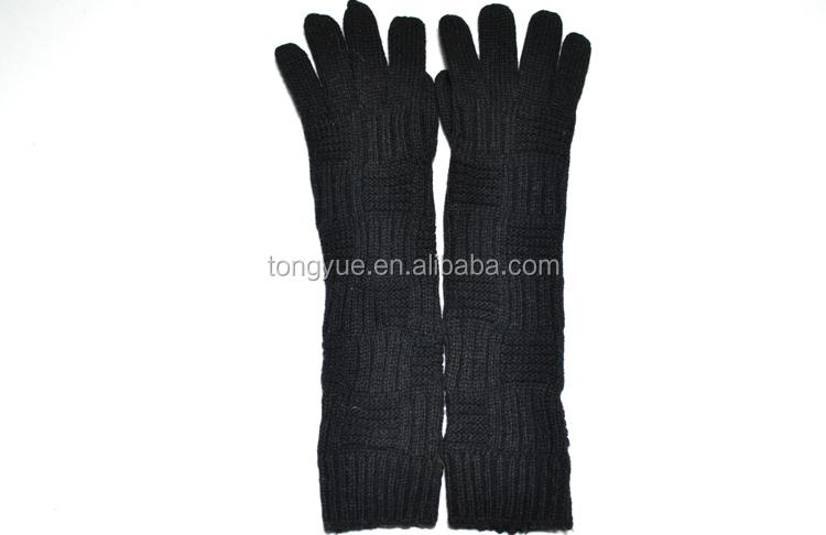 hot fashion Winter Ladies Arm long knitting glove