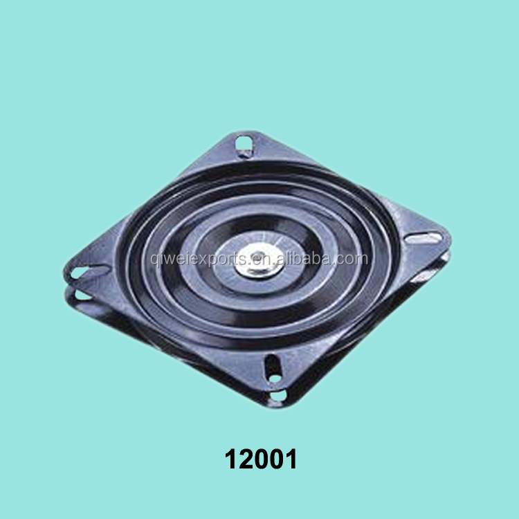 Metal ball bearings rotating swivel plate with round and
