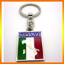 Italy Style Soft Enamel Name Keychain/Metal Name Keyring