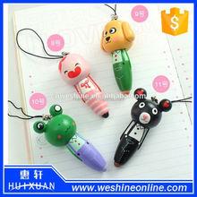 Full debris wooden wind cartoon animals carry pen / pen / short pen / pendant