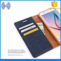 Goospery Leather Canvas Diary Wallet Leather Flip Case For Galaxy N9005