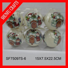 China hot sale christmas ornament wreath diy balls