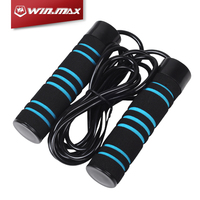 Fitness heavy weighted jump rope with iron block and ball bearing