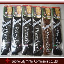 2015 Factory wholesale Xpression ultra braid kanekalon braiding synthetic hair