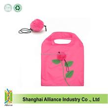 Rose Shape Foldable Shopping Bag,Durable Flower Shape Nylon Shopping Bag FJ0294