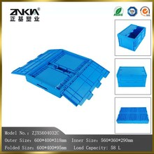 100% virgin PP material Foldable feature and Solid Box Style plastic crate from China factory