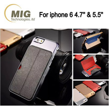 Metal pu leather mobile phone cse 2 in 1/ OEM custom wallet design leather cell phone case with stand and card slot pocket