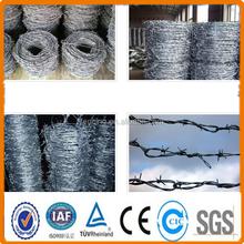 2015 électrique de fer barbelé galvanisé Wire12 # x12 # / Hot galvanisées placage barbelés
