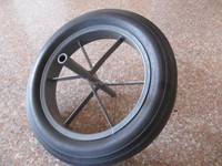 solid rubber wheels with spokes 15x3inch 380mm used for construction