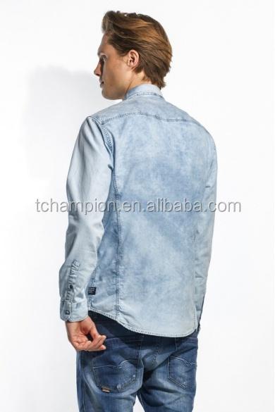 (# TGSA004SH ) 2015 china wholesale guangzhou clothing label long sleeve latest shirt designs for men