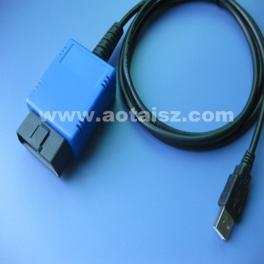 OBDii cable connector USB China obd cable