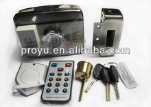 High quality Double cylinder Mute Intelligent Electronic Swipe Card door Lock PY-EL16