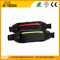 Newest running belt led waist pouch mini waist bag for ipad for iphone6