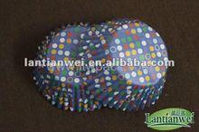 rodada colorido papel manteiga cupcakes