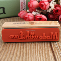 Brand New Romantic Design New DIY English Rubber Wooden Stamp Scrapbooking Craft Wedding Party Card Making For Decoration