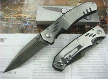 OEM folded knife 440C Stainless Steel knife titanium coating knife UDTEK00192