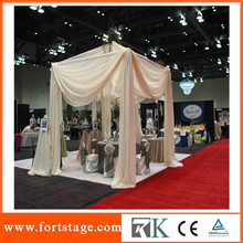 Portable factory for pipe and drape for wedding