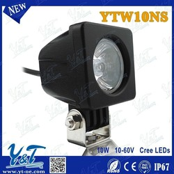 """2"""" Square Heavy Duty High Powered Waterproof IP67 10W 12 volt led lights motorcycles"""