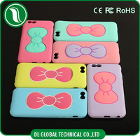 PC +Silicone mobile phone holder case Bowknot stents case for iphone case