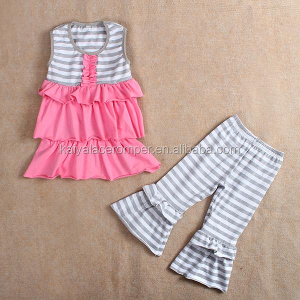 2015 New design kids clothes set wholesale children's boutique clothing