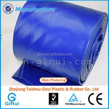 medium duty layflat pump hose a dark blue coated polyester jacket