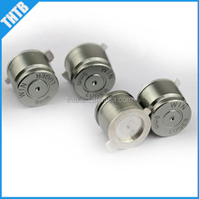 for ps3 controller repair replacement part 9mm chrome metal Aluminum ABXY thumbstick bullet button