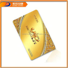 Gold Foil Novelty Printed Pvc Business Cards