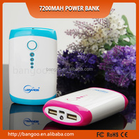 Alibaba Fashion Design 7200mAh Li-Polymer Power Bank VS 7200mah solar powerbank