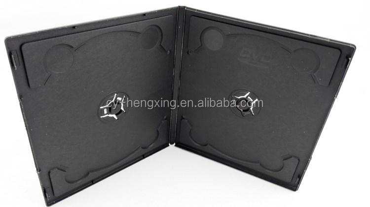 PP 7mm Double Black short elegant plastic cheap DVD Case in B Type