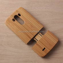 Natural wooden cover bamboo wood back mobile phone case for LG G3