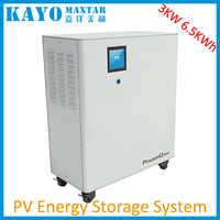 6500Wh All-in- one household 3kw lithium ion battery solar generator